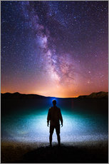 Gallery print  Milky way headlamp portrait - Matthias Köstler