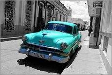 Wall sticker  Colorspot - classic cars in the streets of Santa Clara, Cuba - HADYPHOTO