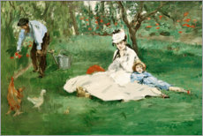 Premium poster The Monet family in the garden