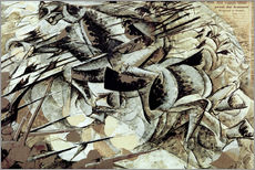 Gallery print  The Charge of the Lancers - Umberto Boccioni