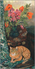 Wall sticker  Bouquet and cat - Suzanne Valadon