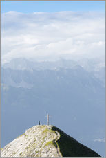 Wall sticker  Man on mountain top - Markus Kapferer