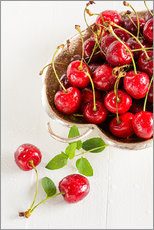 Wall sticker  A bowl of delicious cherries - Edith Albuschat