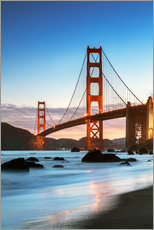 Wall sticker  Golden gate bridge at dawn from Baker beach, San Francisco, California, USA - Matteo Colombo