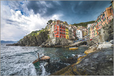 Wall Stickers  Riomaggiore during a storm - Salvadori Chiara