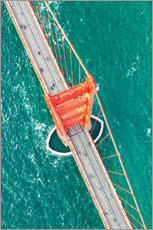 Gallery print  Aerial view of Golden gate bridge, San Francisco, California, USA - Matteo Colombo