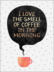 Wall sticker  I love the smell of coffee in the morning - Elisabeth Fredriksson