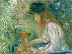 Gallery print  Girl with Dog - Berthe Morisot