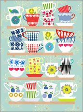 Gallery print  Shelf of Scandinavian cups - Elisandra Sevenstar