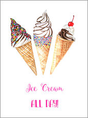 Wall sticker  Ice cream all day - Rongrong DeVoe