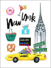 Wall Sticker  New York Sightseeing - Rongrong DeVoe