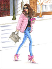 Gallery print  Pink fashionistas - Rongrong DeVoe