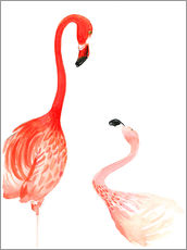 Gallery Print  Flamingo Love - Rongrong DeVoe