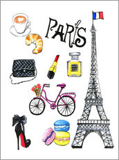 Wall sticker  Journey to Paris - Rongrong DeVoe