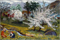 Acrylic glass  Flowering apple tree, Strømsbo farm - Nikolai Astrup