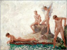 Wall Stickers  Bathers youths - Ludwig von Hofmann