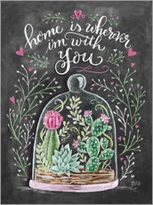 Wall sticker Home is Wherever I'm with You