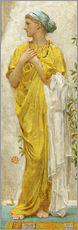 Gallery print  Standing figure in yellow and blue, study for Topaz - Albert Joseph Moore