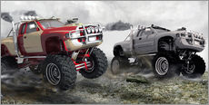 Wall Stickers  Monster Truck Race - Kalle60
