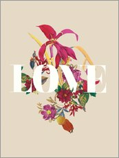 Gallery print  Exotic Love flowers botanical art - Nory Glory Prints