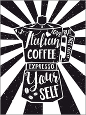 Wall sticker  Italian coffee typography art print - Nory Glory Prints