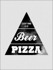 Wall sticker  Food graphic beer pizza logo parody - Nory Glory Prints