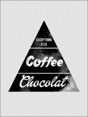 Wall sticker  Pyramid Food graphic coffee chocolat logo parody art - Nory Glory Prints