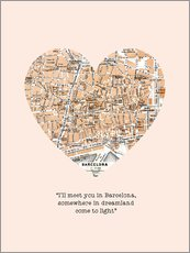 Gallery print  I'll meet you in Barcelona - Romance Typo - Nory Glory Prints