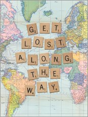 Wall sticker  Get lost along the way scrabble letters art - Nory Glory Prints