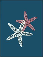 Wall sticker  Nautical logo starfish sea nautical ocean art - Nory Glory Prints