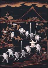 Gallery print  Procession of frogs