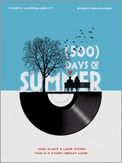 Gallery Print  500 days of summer - Golden Planet Prints