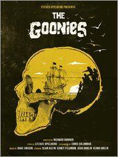 Wall Stickers  The Goonies movie inspired skull never say die art - Golden Planet Prints