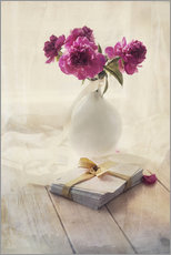 Wall Sticker  Still life with pink peonies and love letters - Jaroslaw Blaminsky