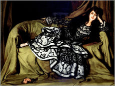 Gallery print  Marcelle Souty with a frilly dress - Ignacio Zuloaga Zabaleta