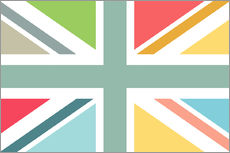 Wall sticker  Modern Union Jack - Jaysanstudio