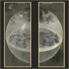 Canvas print  The creation - Hieronymus Bosch
