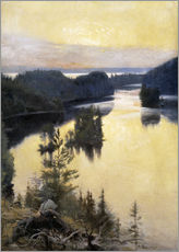 Gallery print  Kaukola Ridge at Sunset - Albert Edelfelt