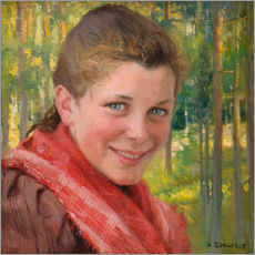 Gallery print  Girl from Porvoo (farmer's daughter from Uusimaa) - Albert Edelfelt