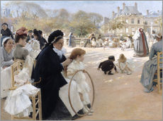 Wall sticker  In the Luxembourg Gardens - Albert Edelfelt