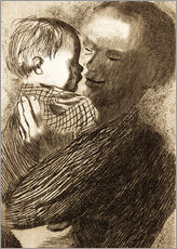 Wall sticker  Mother with Child in her arms - Käthe Kollwitz