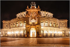 Gallery print  Saxon State Opera House in Dresden at night (Germany) - Christian Müringer