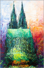 Wall sticker  Cologne Cathedral Abstract - Renate Berghaus