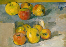 Wall sticker  Apples and cloth - Paul Cézanne