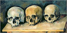 Wall sticker  The Three Skulls - Paul Cézanne