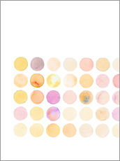 Wall sticker  Circles' square - Verbrugge Watercolor