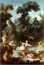 Wall sticker  The progress of love - Jean-Honoré Fragonard