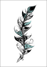Wall sticker  Poetic Feather - LouJah