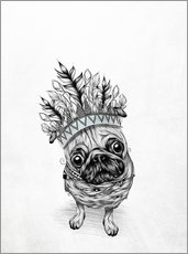 Wall Sticker  Indian Pug - LouJah