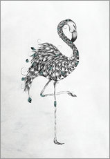Wall Sticker  Poetic Flamingo - LouJah